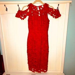 Red Sheath Tahari Arthur S. Levine Dress